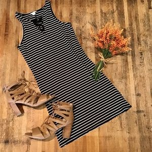 Aeropostale striped fitted mini dress lace up